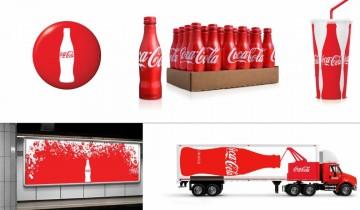 Imagen de la identidad corporativa de CocaCola