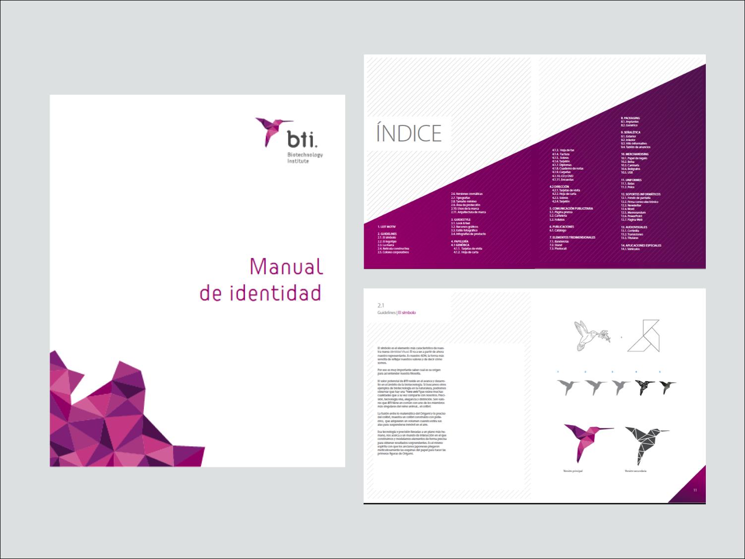 Ejemplo de manual de identidad corporativa para BTI