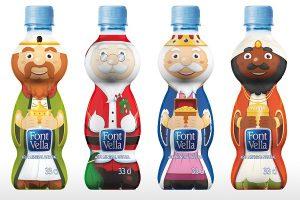 Nuevo packaging navideño de Font Vella