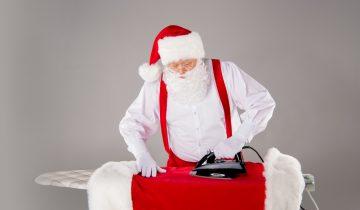 Papa Noel planchando, una campaña de branding en navidad diferente y origianl